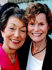 Judith Krug and Judy Blume.