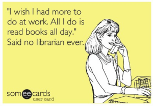 said no librarain